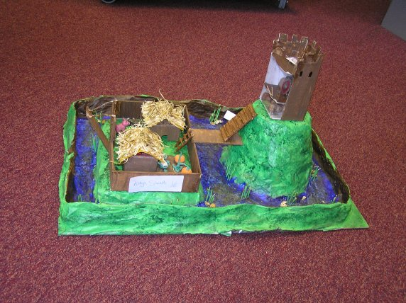 Castle Model by katya Sheath First Year pupil